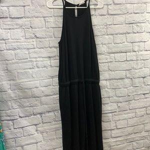 LOFT lounge black lounge jumpsuit with pockets size Large